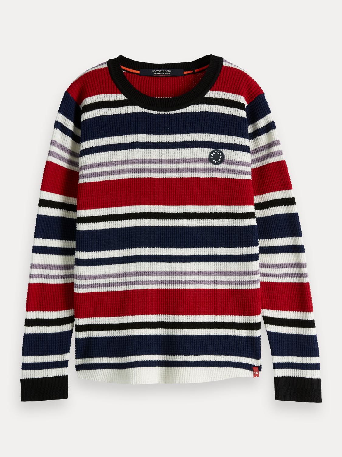 Boys Waffle Knit Pullover