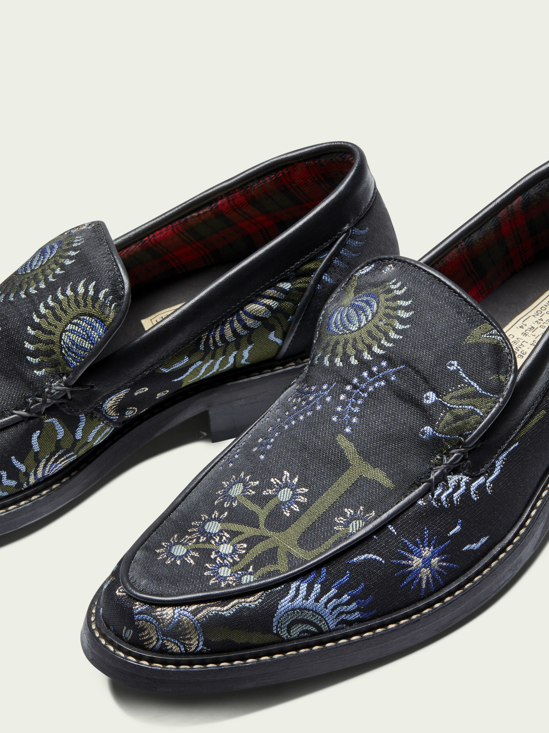 Men Spinel - floral fabric loafers