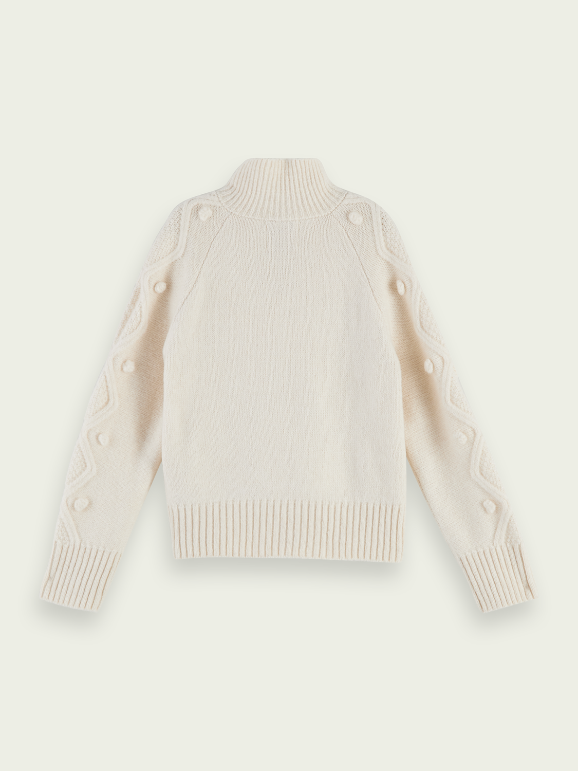 Kids Half-zip cable knit pullover