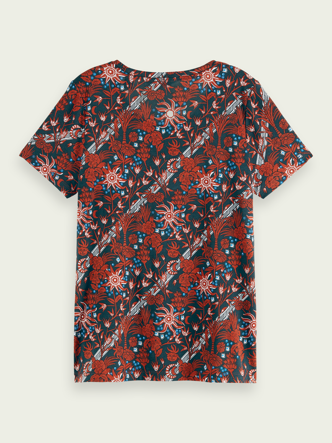 Women Cotton-blend printed short sleeve crew neck t-shirt