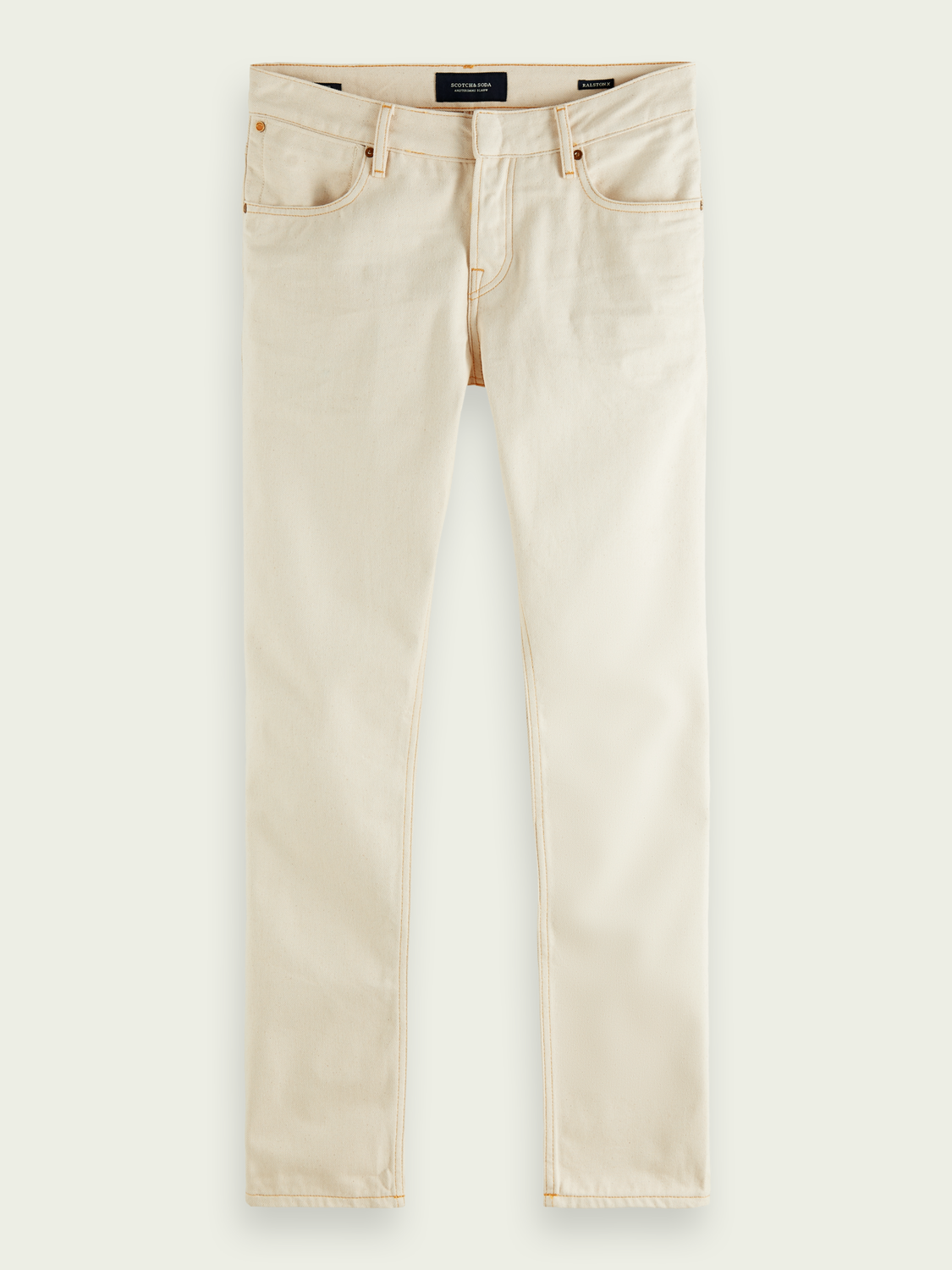 Heren Ralston Plus - Natural Ecru | Regular slim fit jeans