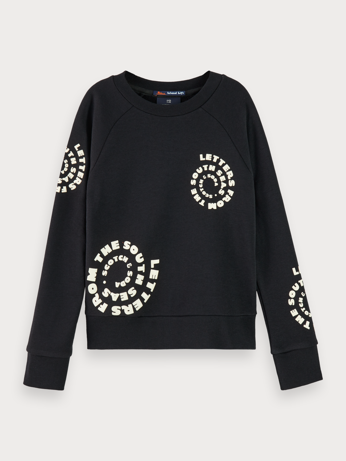 Niña Cotton blend branded long sleeve sweatshirt