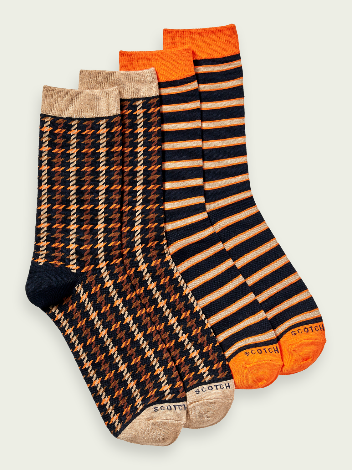 Men 2-pack cotton-blend patterned socks
