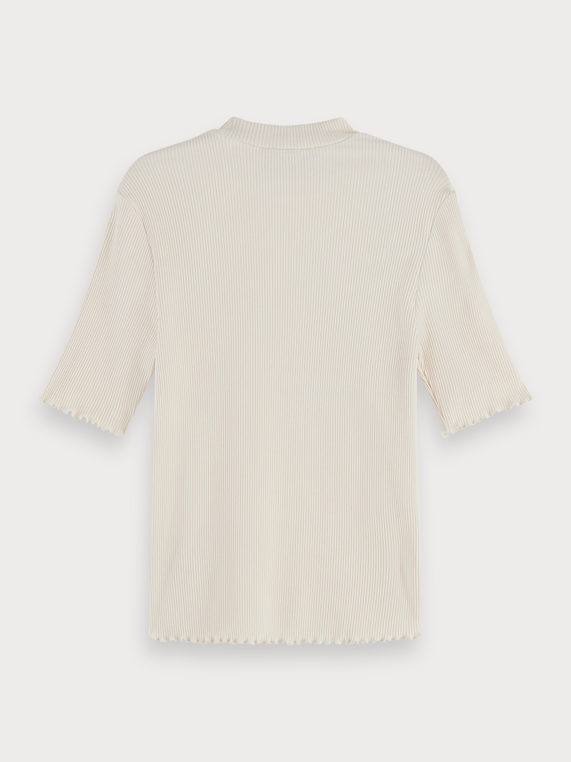 Donna Stretch rib knit high neck t-shirt