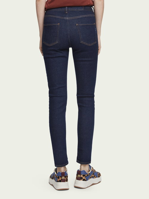 Scotch & Soda Haut - French Blue   High-rise skinny fit jeans