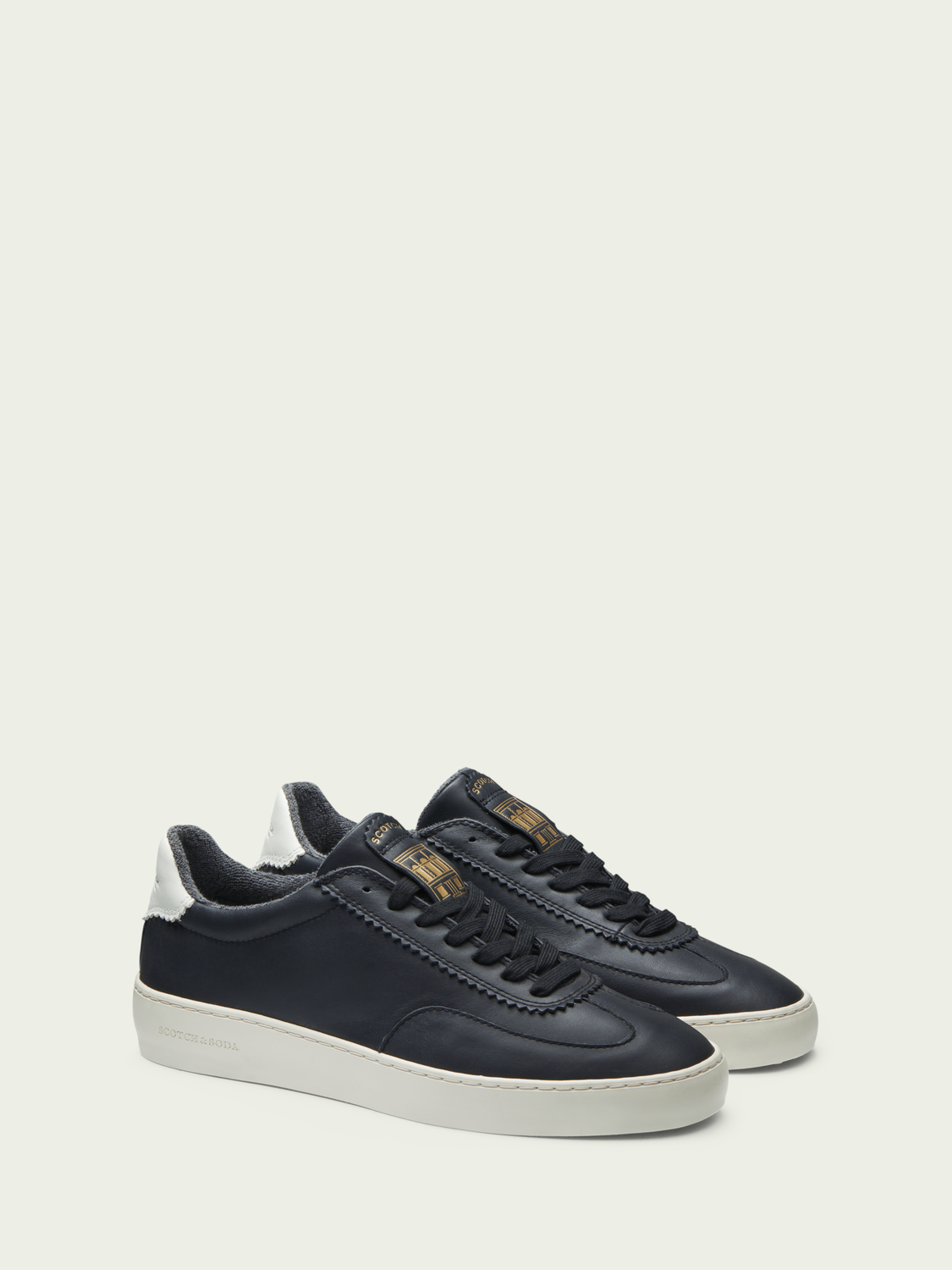Men Plakka - lace-up leather sneakers