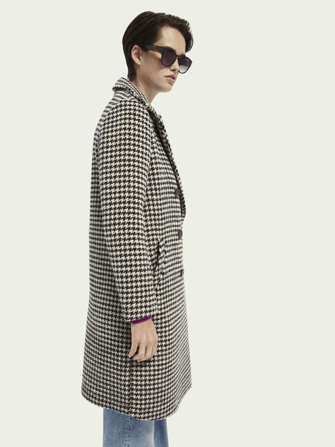 Women Wool-blend double breasted coat