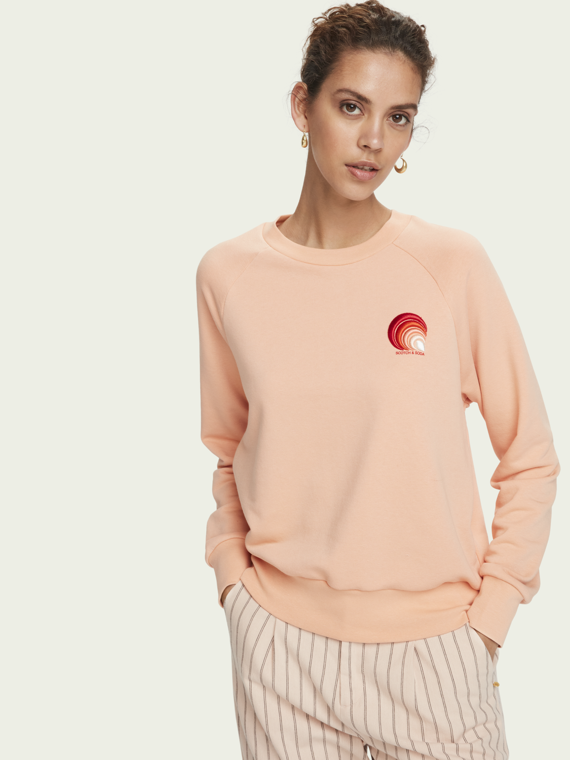 Dames Sweater met textuur, lange mouwen en artwork