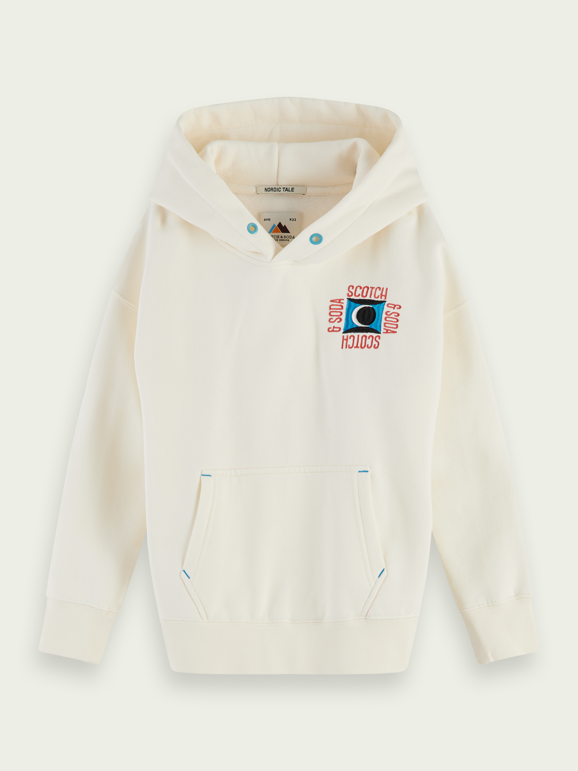 Kids Clean hoodie with embroidered detail