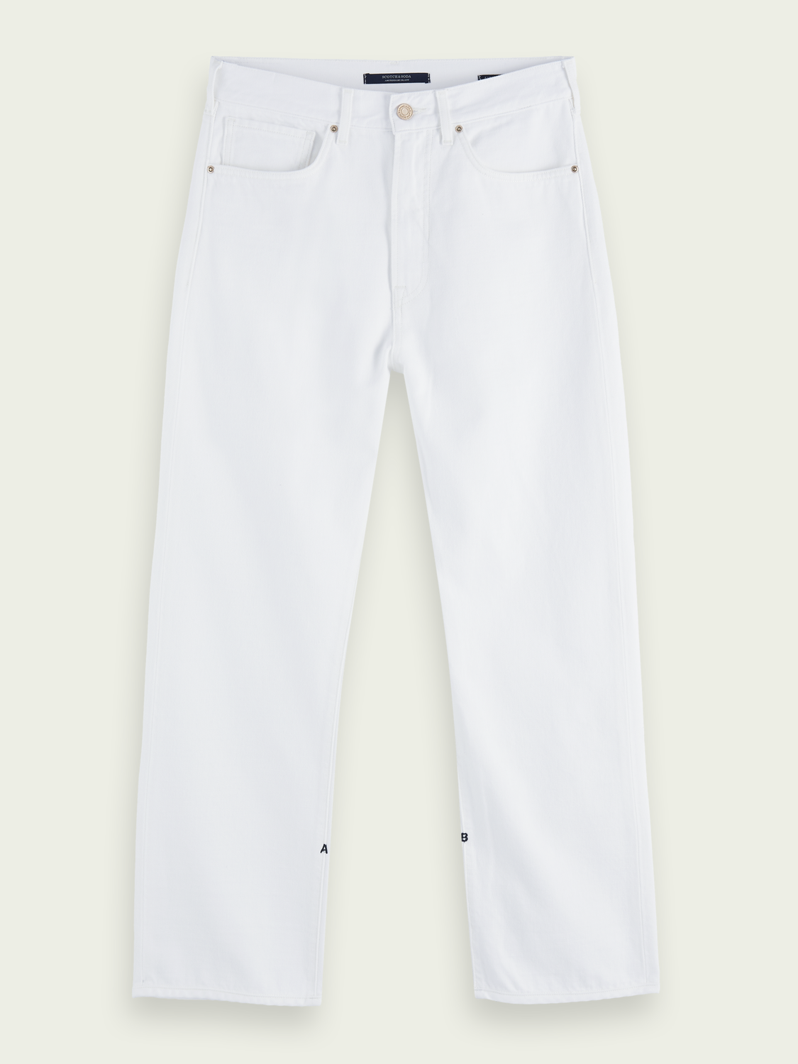 Women Extra Boyfriend - 100% cotton - Coconut White | medium-rise jeans