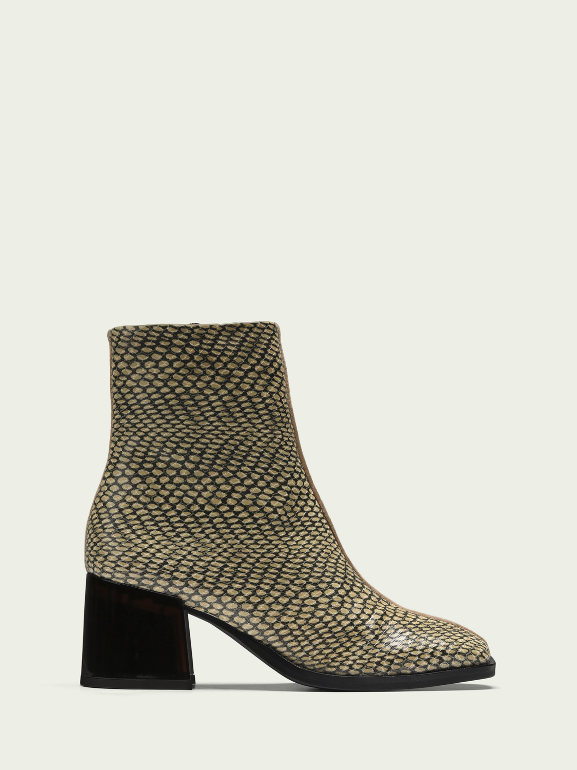 Women Florence - suede lether heeled ankle boots