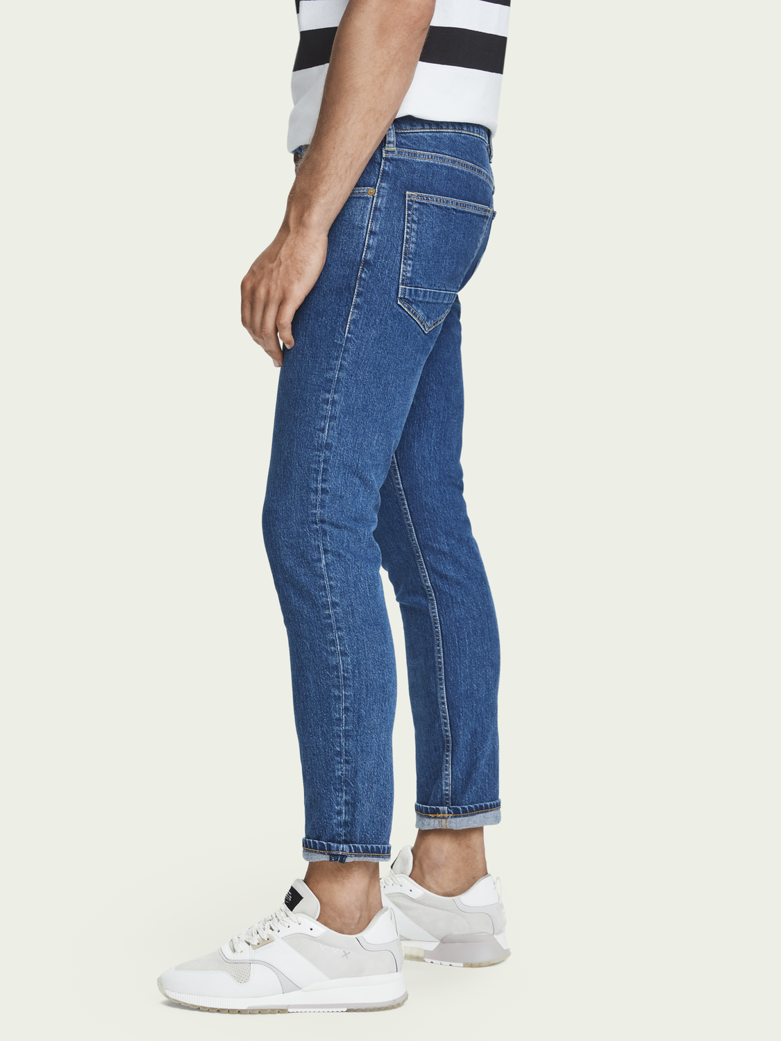 Heren Skim cropped - Blauw Sails | Mid rise superskinny jeans