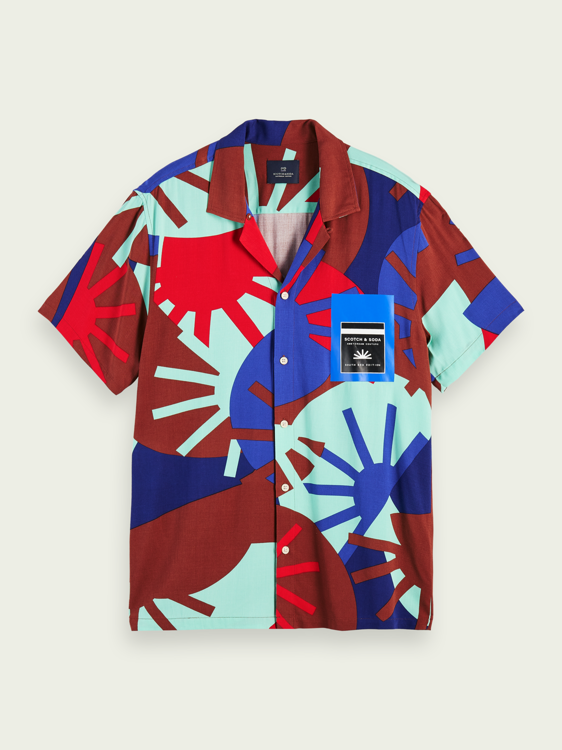 Men Lightweight printed short sleeve shirt
