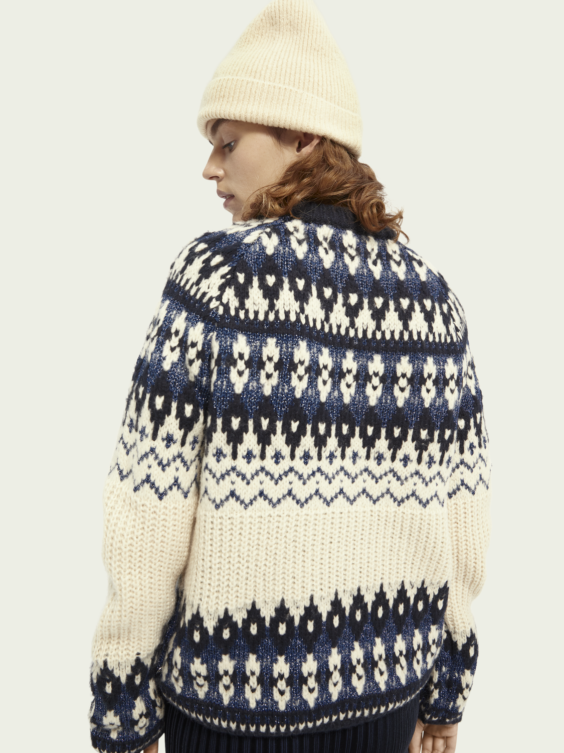 Women Chunky knit wool-blend pullover