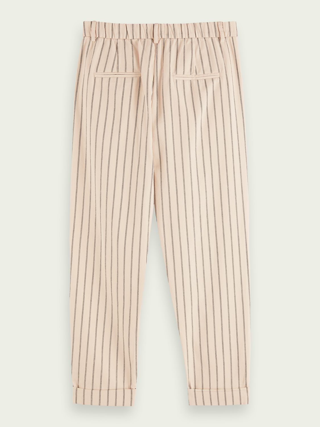 Women 100% cotton high-rise straight leg striped pants