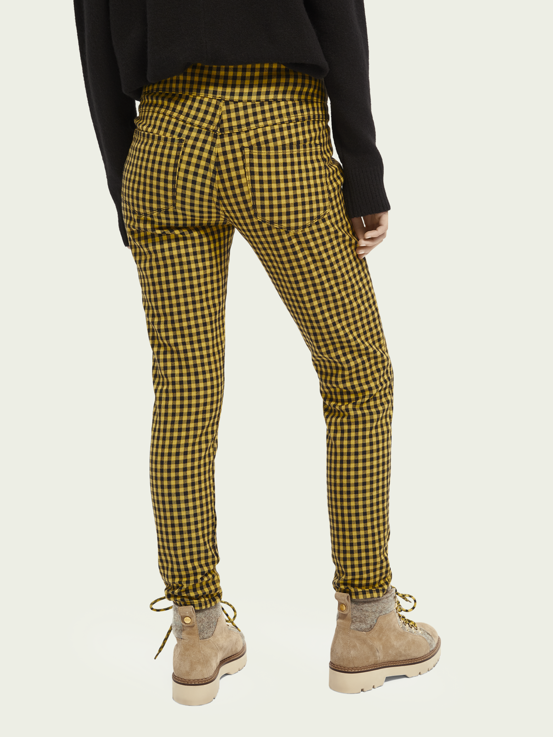 Women Checked stretch-cotton skinny pants