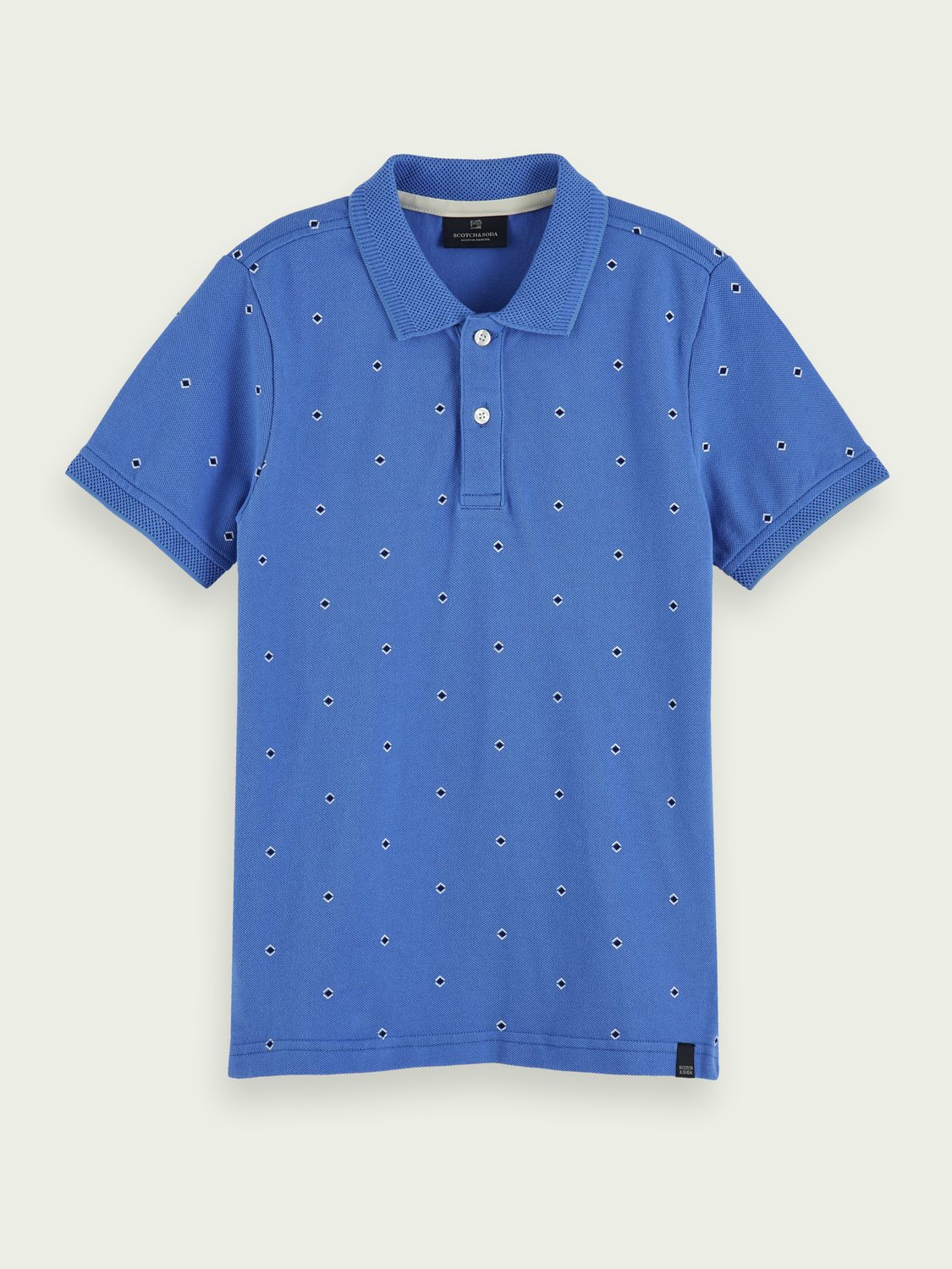 Boys All-over print cotton polo shirt