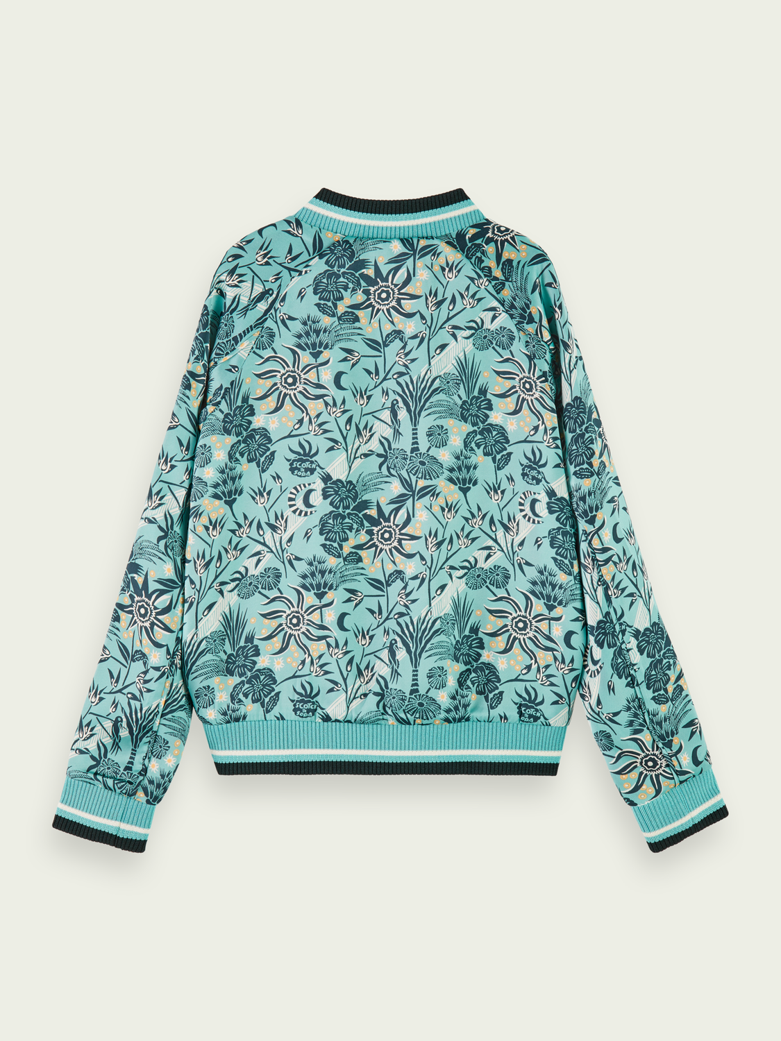 Kids Reversible printed bomber jacket