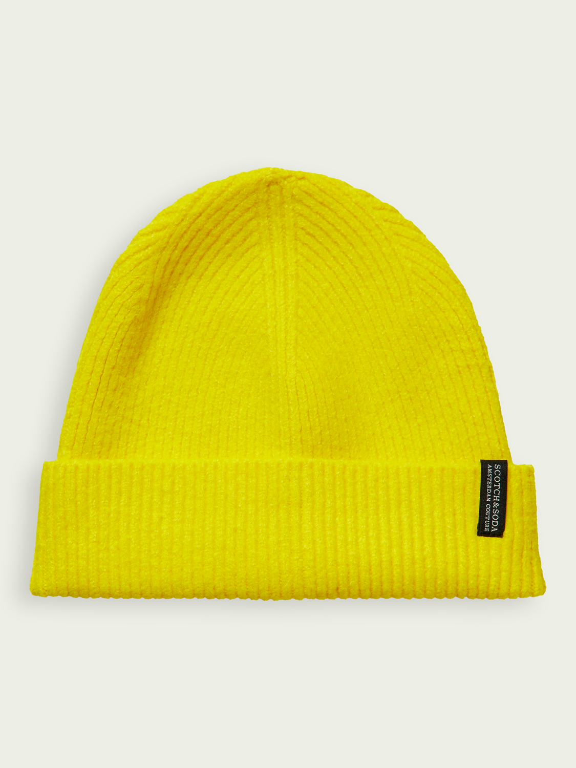 Men Unisex rib-knit stretch beanie