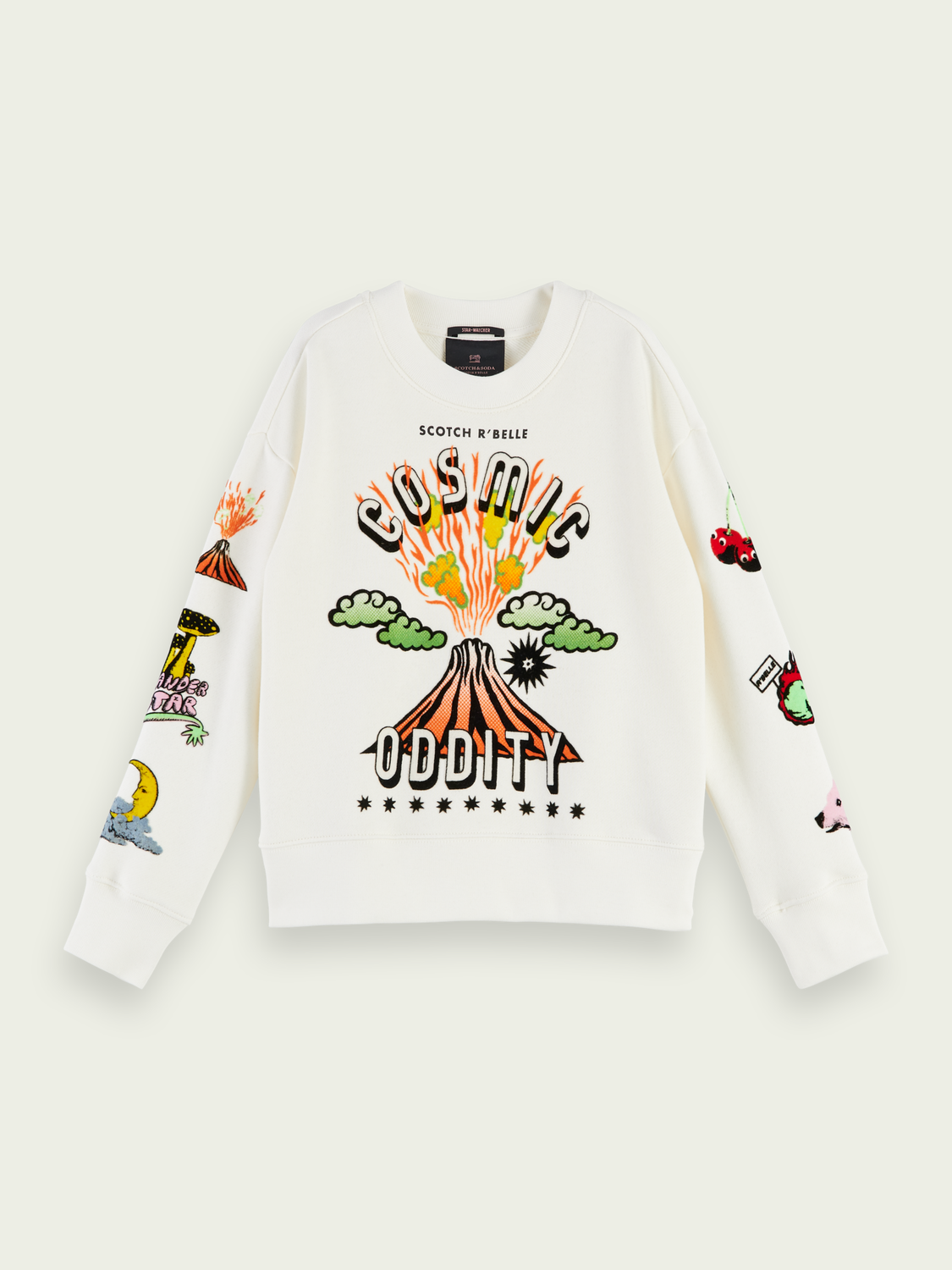 Kids Colourful artwork cotton sweatshirt