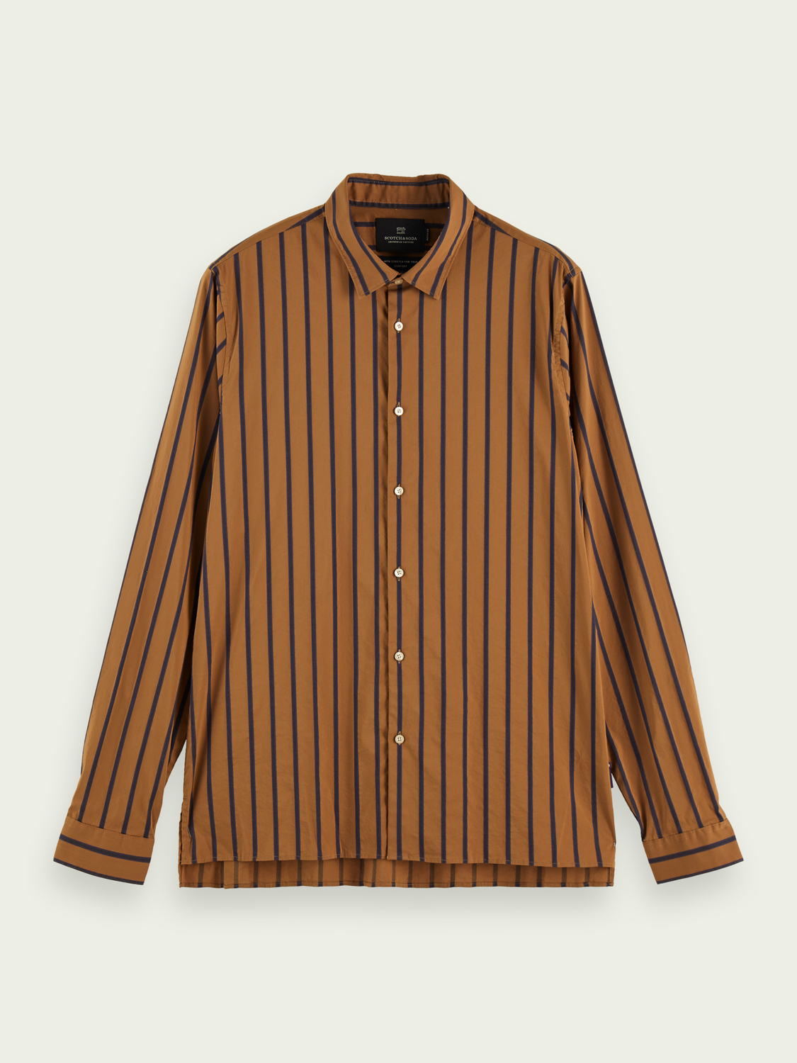 Men Stretch cotton-blend striped shirt