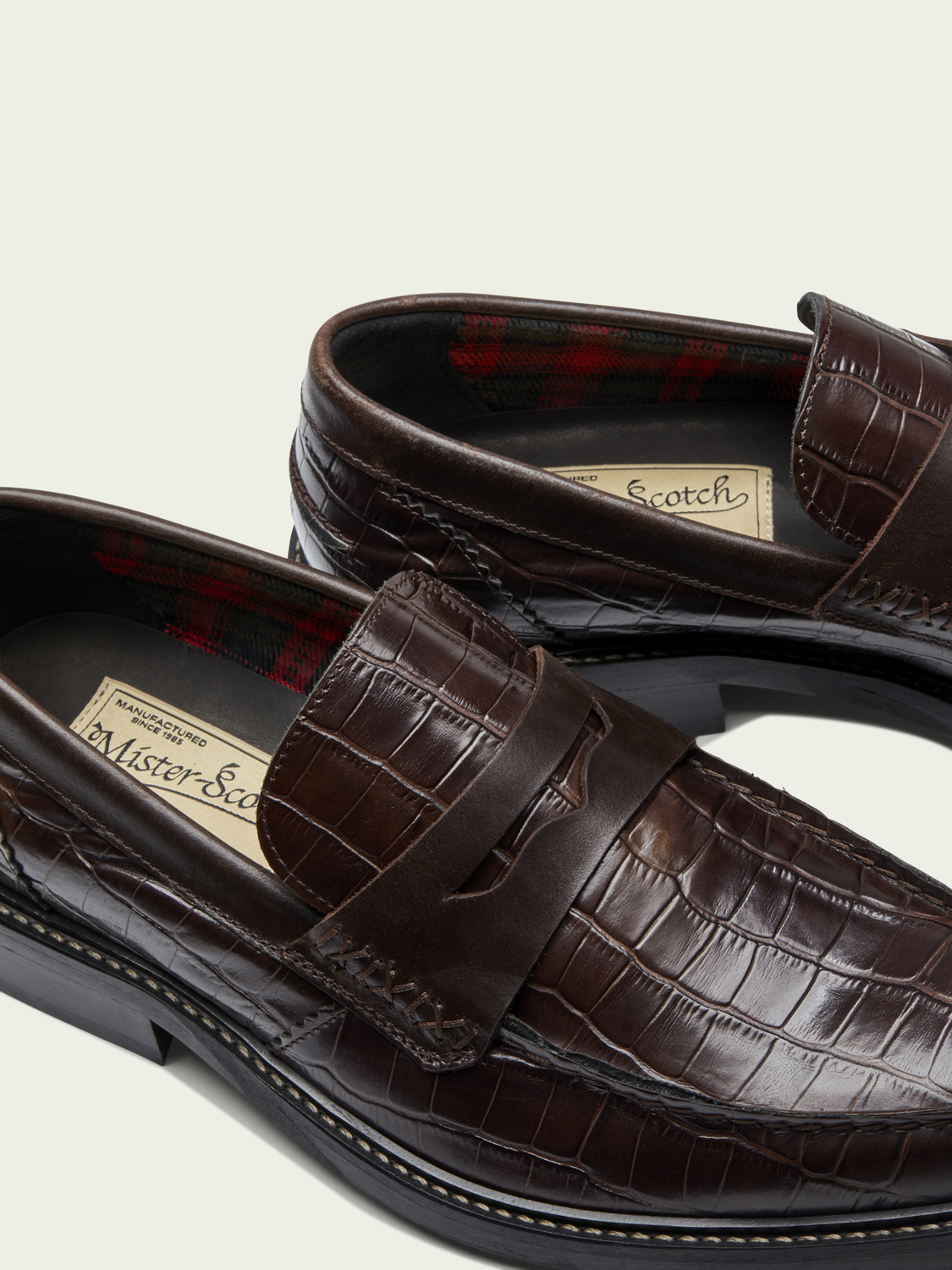 Men Spinel - croc-effect leather loafers