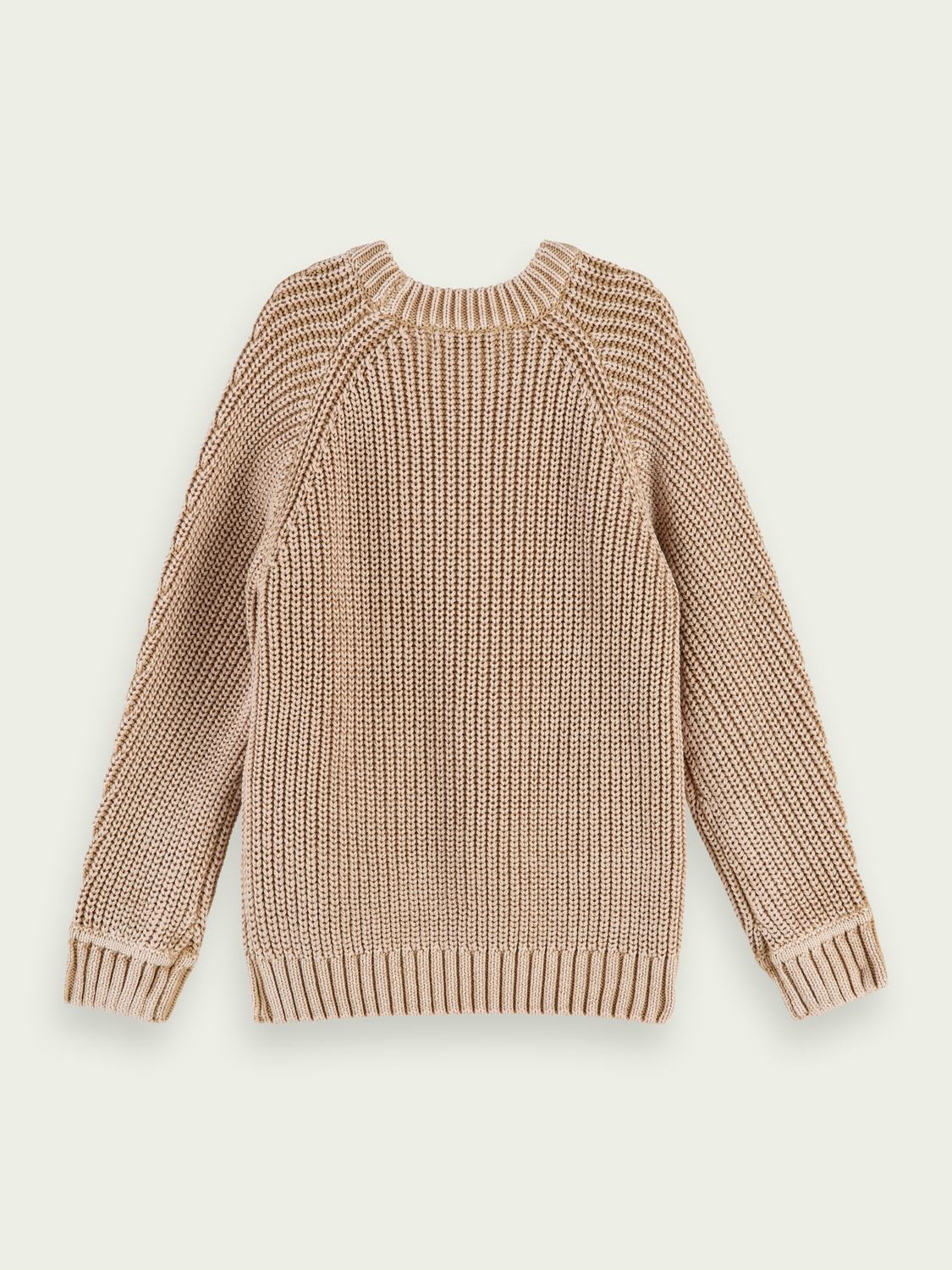 Boys Structured knit cotton pullover