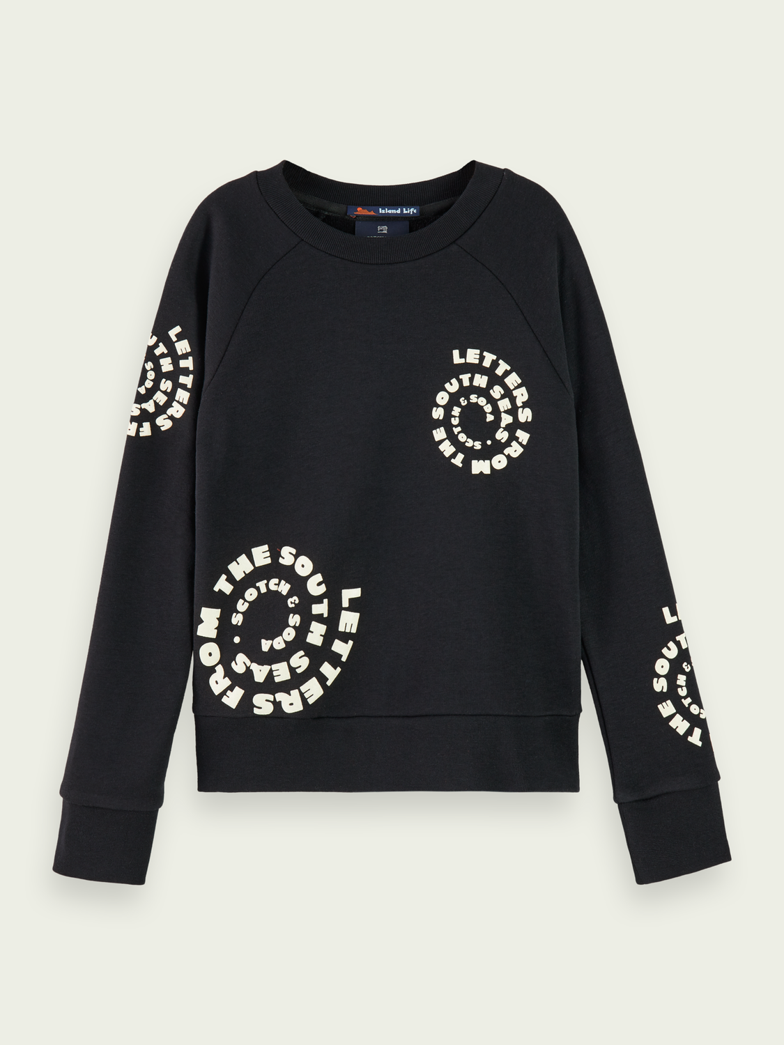 Kids Cotton-blend branded long sleeve sweatshirt