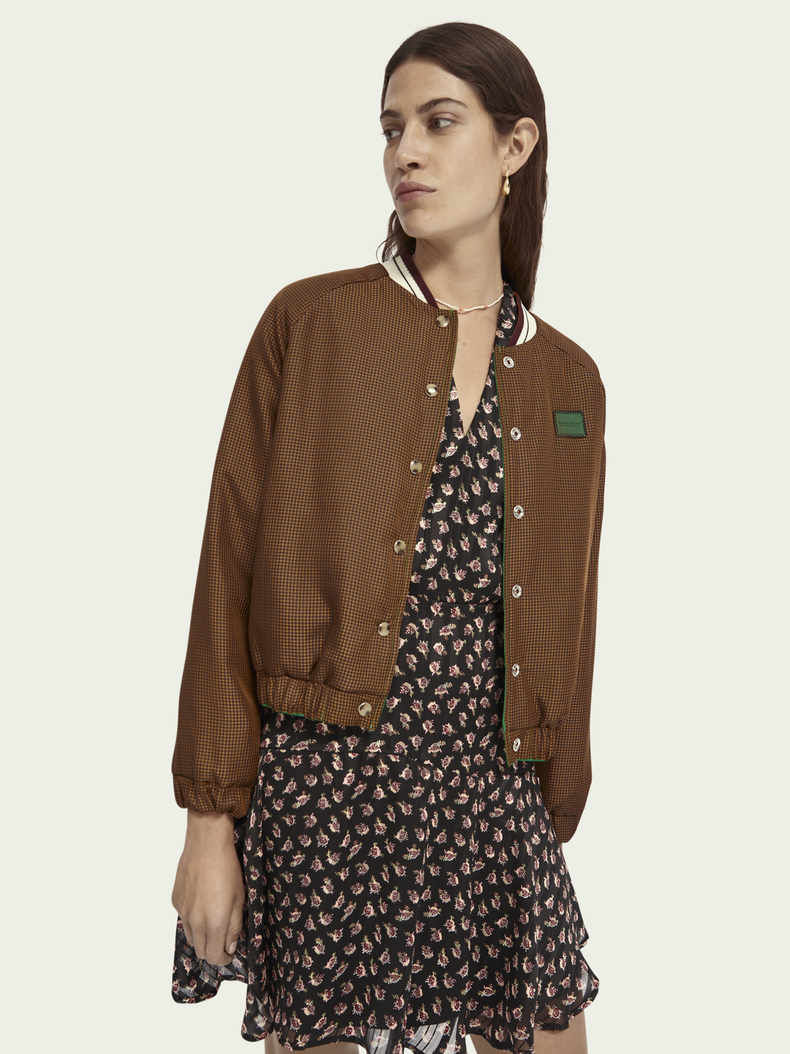 Women Reversible embroidered bomber jacket
