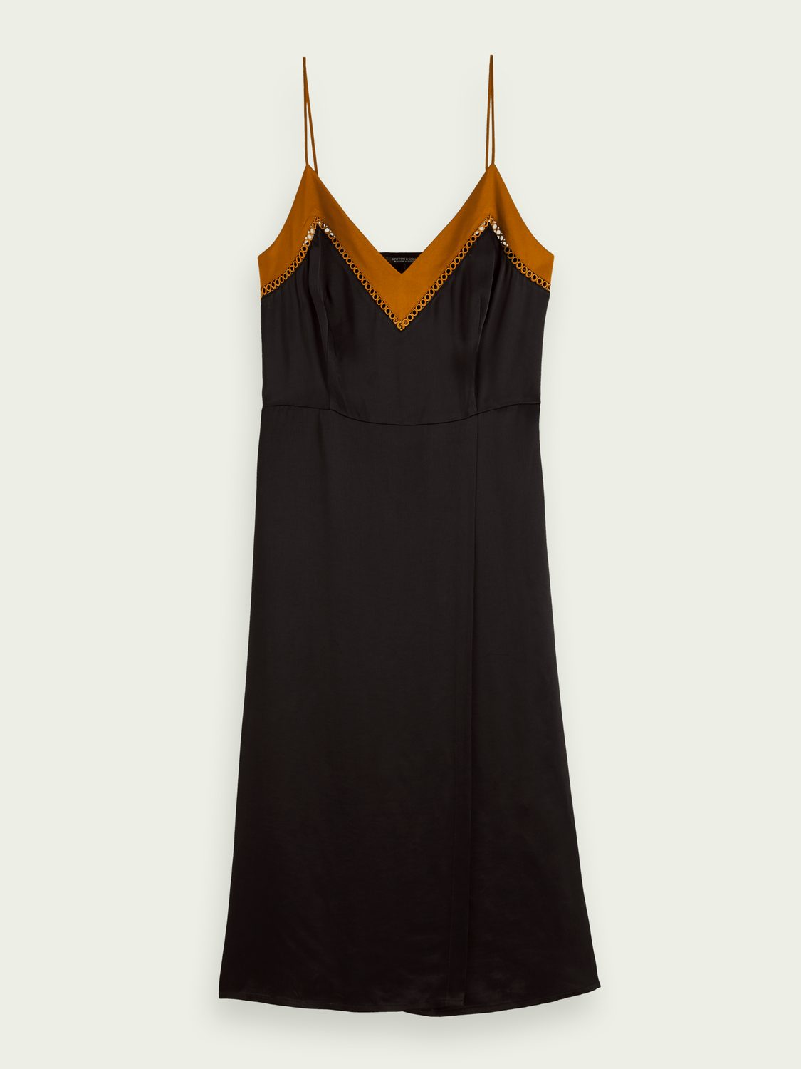 Women Midi wrap detail slip dress