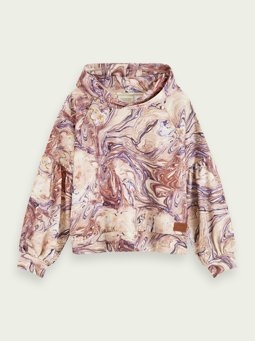 Scotch & Soda MARBLE LONG SLEEVE HOODIE