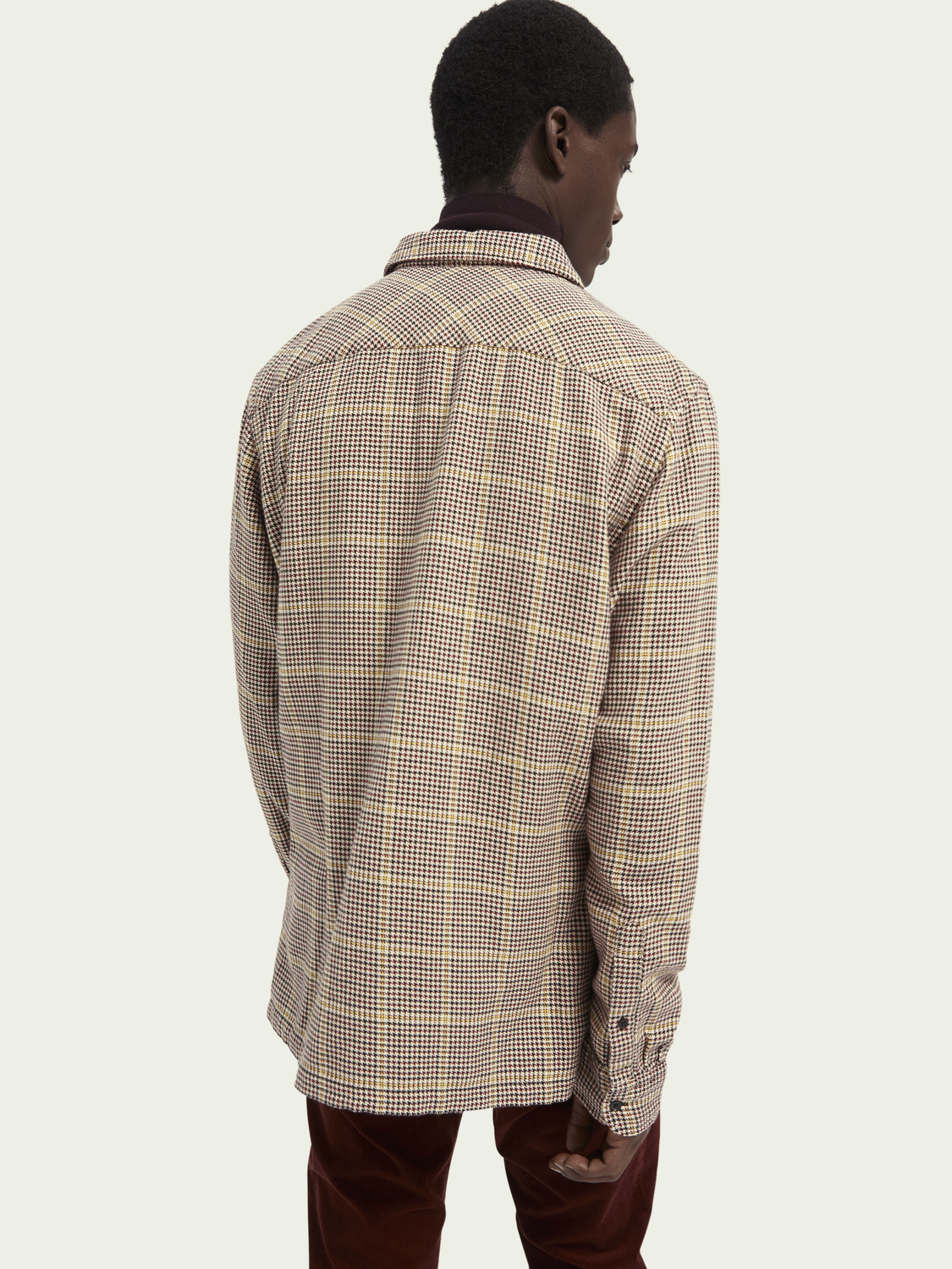 Men Relaxed fit long sleeve checked cotton shirt