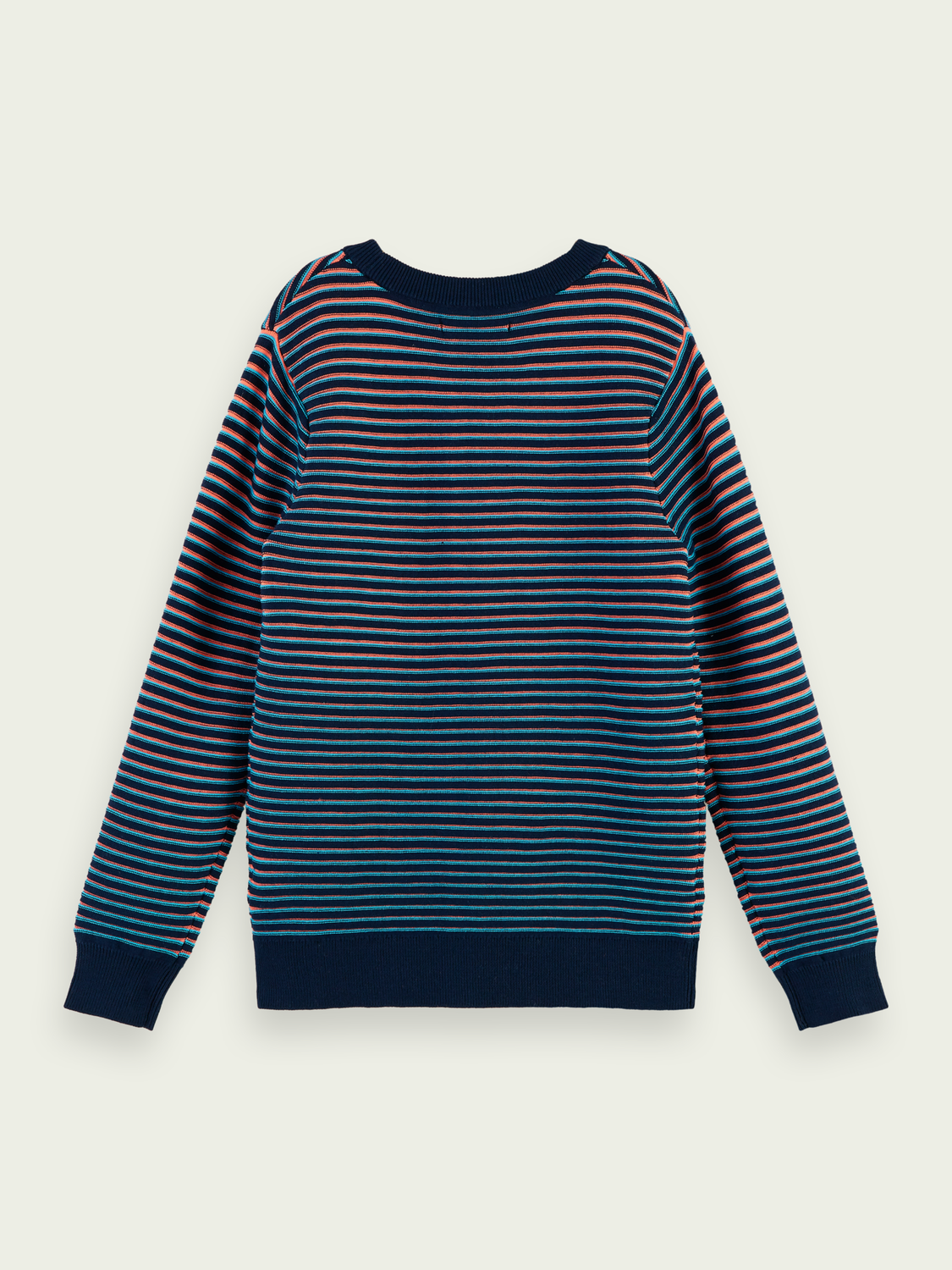 Kids Sporty striped crewneck pullover