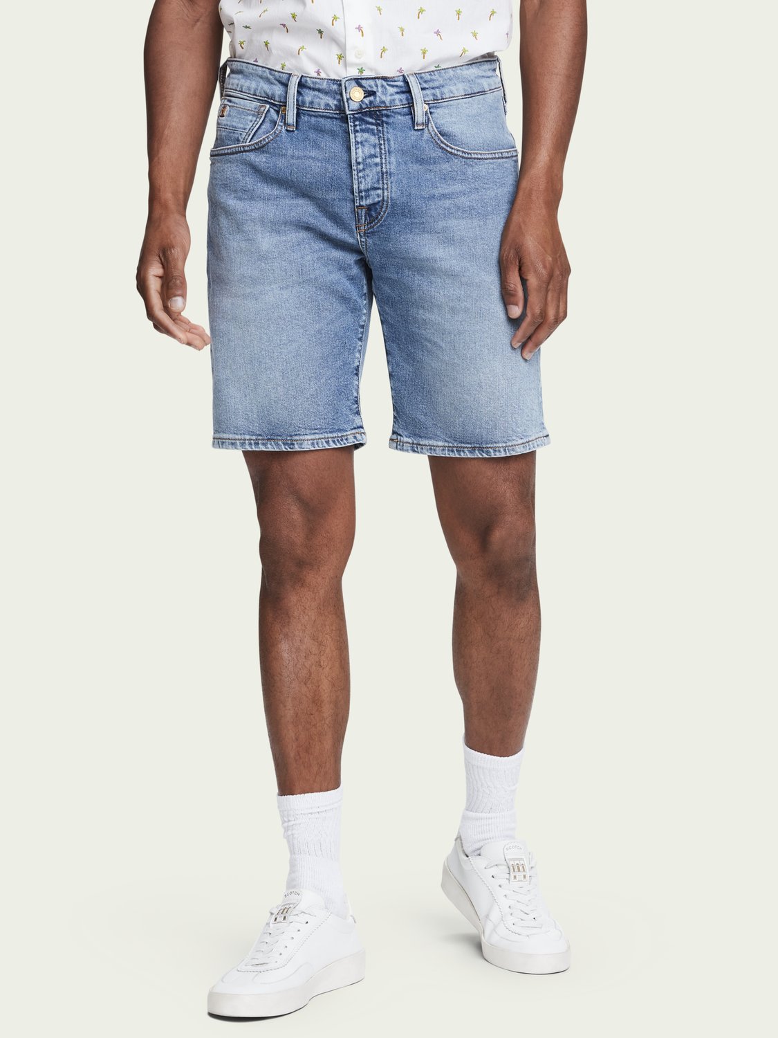 Men Ralston Short - Midday Blauw | Slim fit