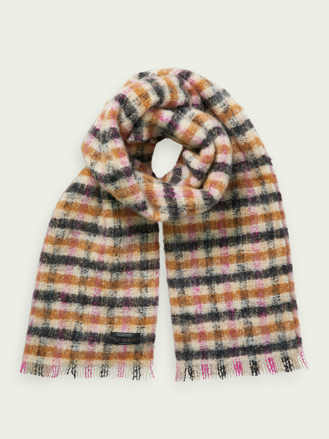 Women Checked wool scarf
