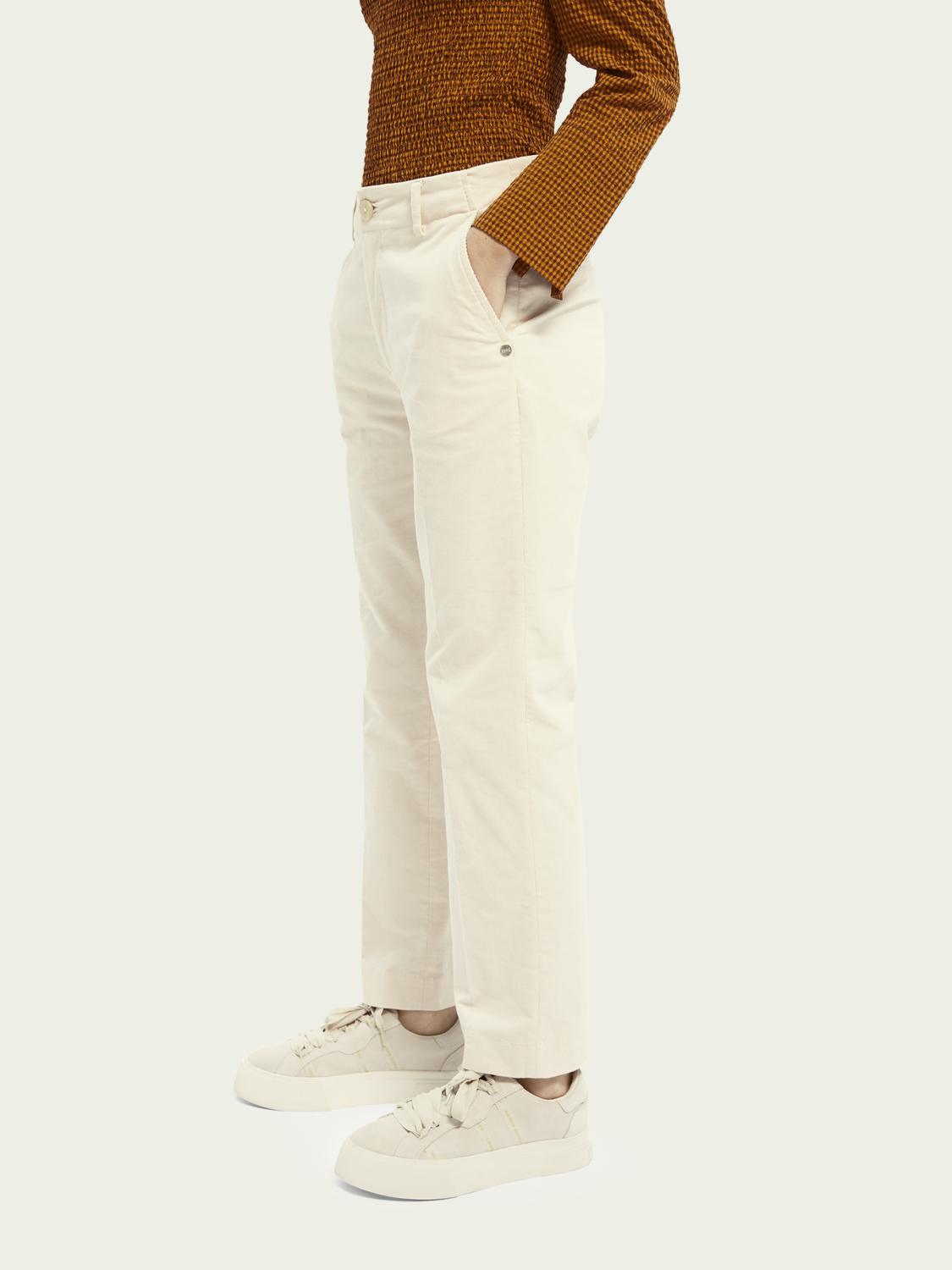 Women Abott – cotton | Regular fit cord chino