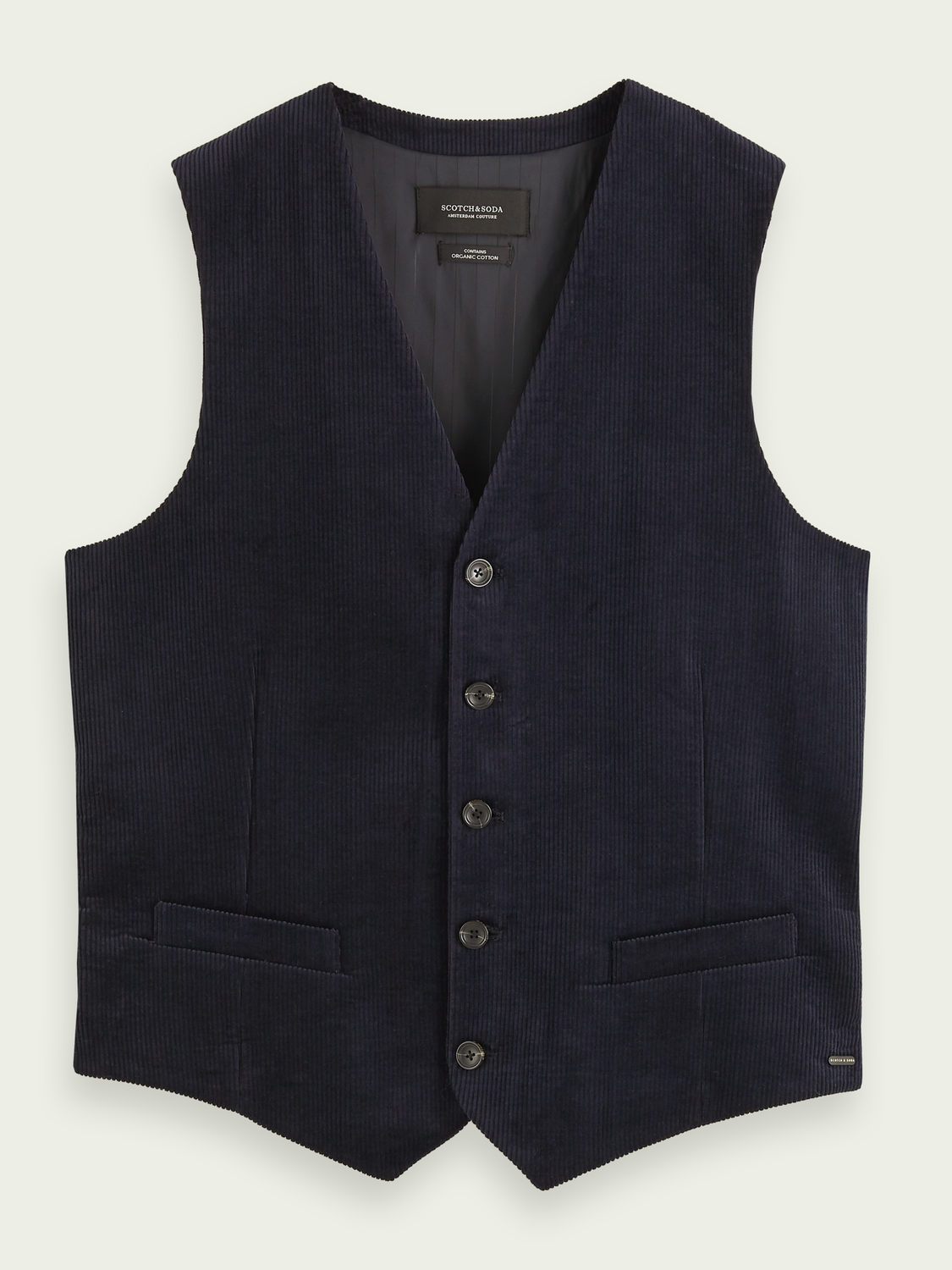 Men Cotton corduroy gilet