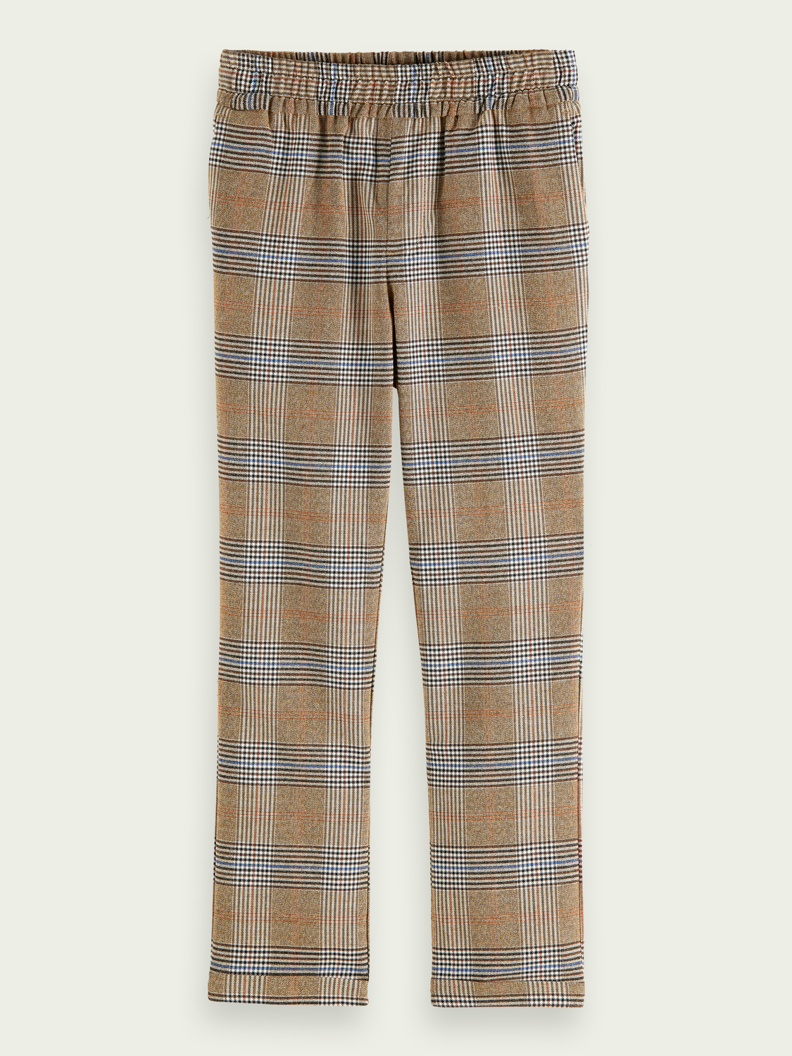 Kids Relaxed slim fit checked pants