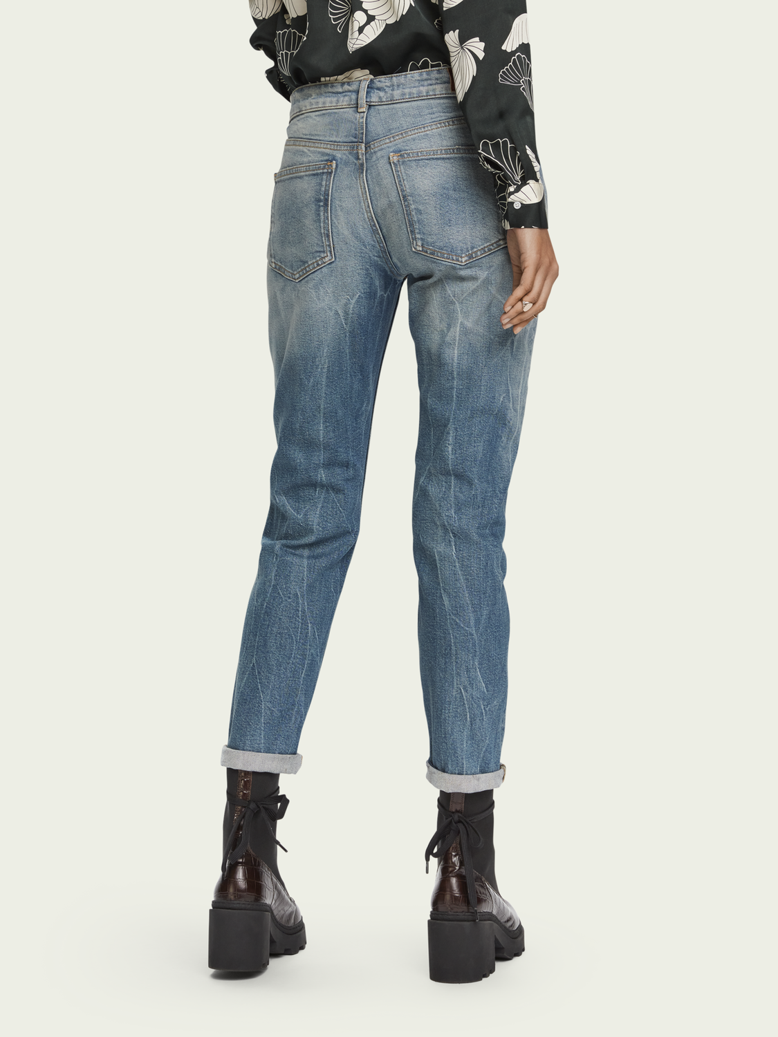 Dames The Keeper - Paradise Seekers | Mid rise slim fit jeans van biologisch katoen