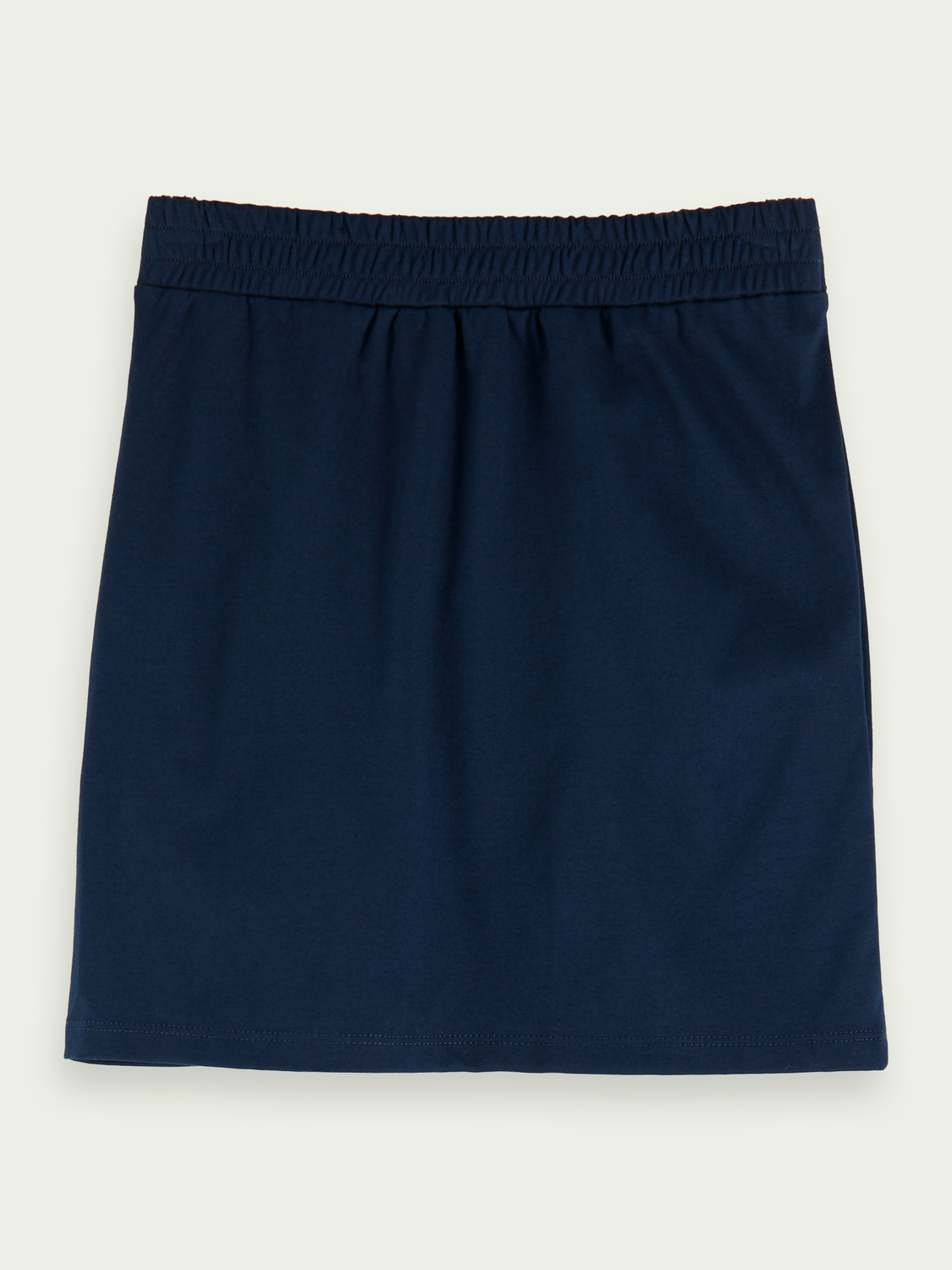 Kids Cotton wrap-over mini skirt