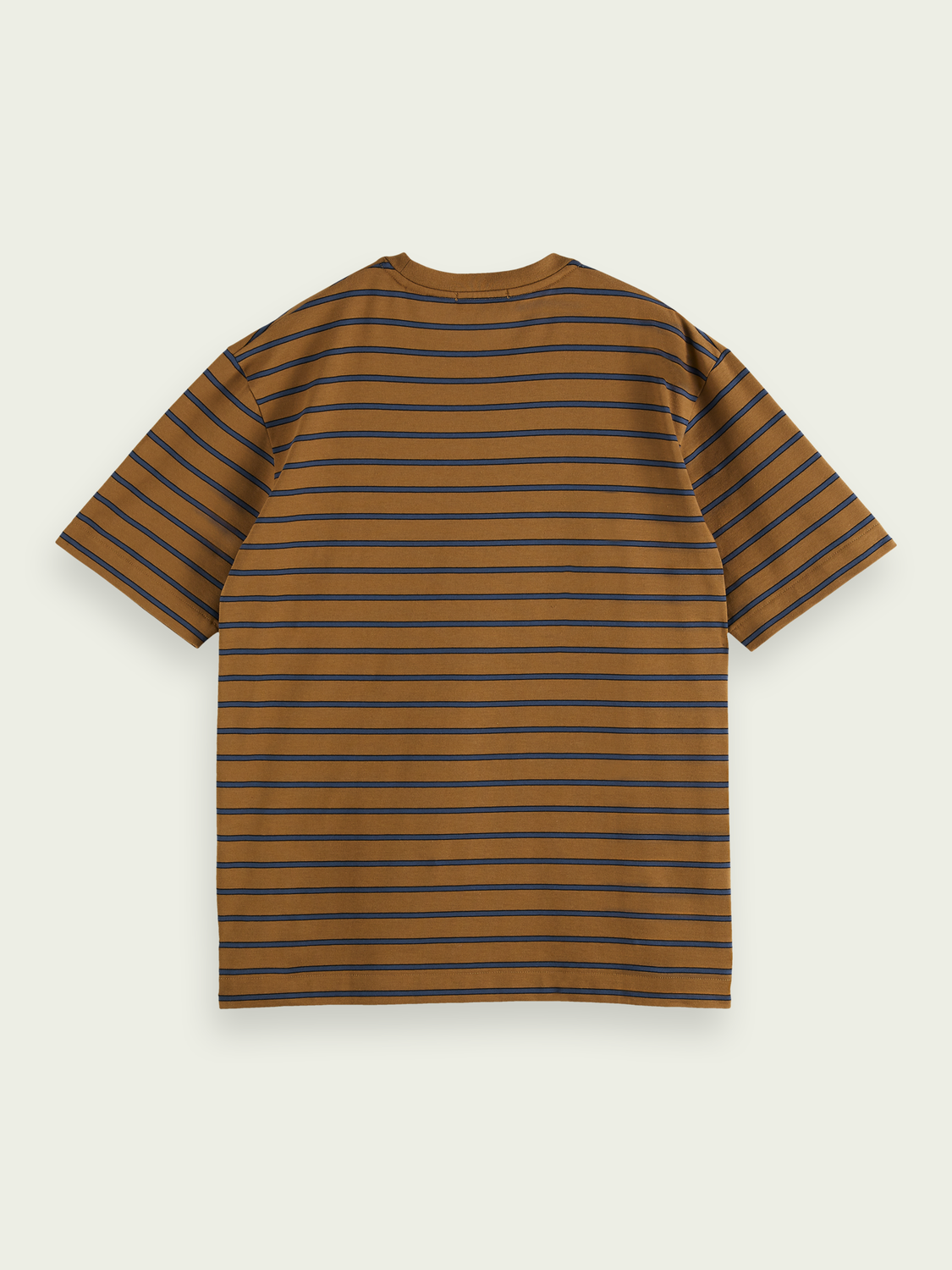 Men Cotton striped pocket t-shirt