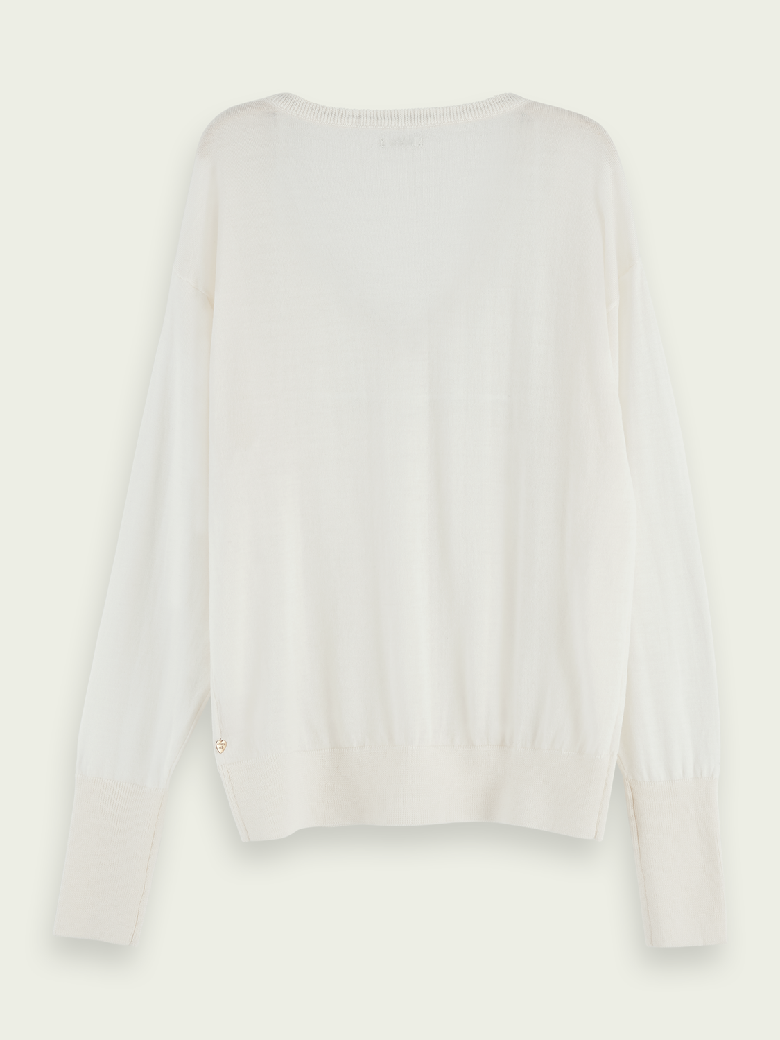 Women 100% Merino wool long sleeve V-neck sweater