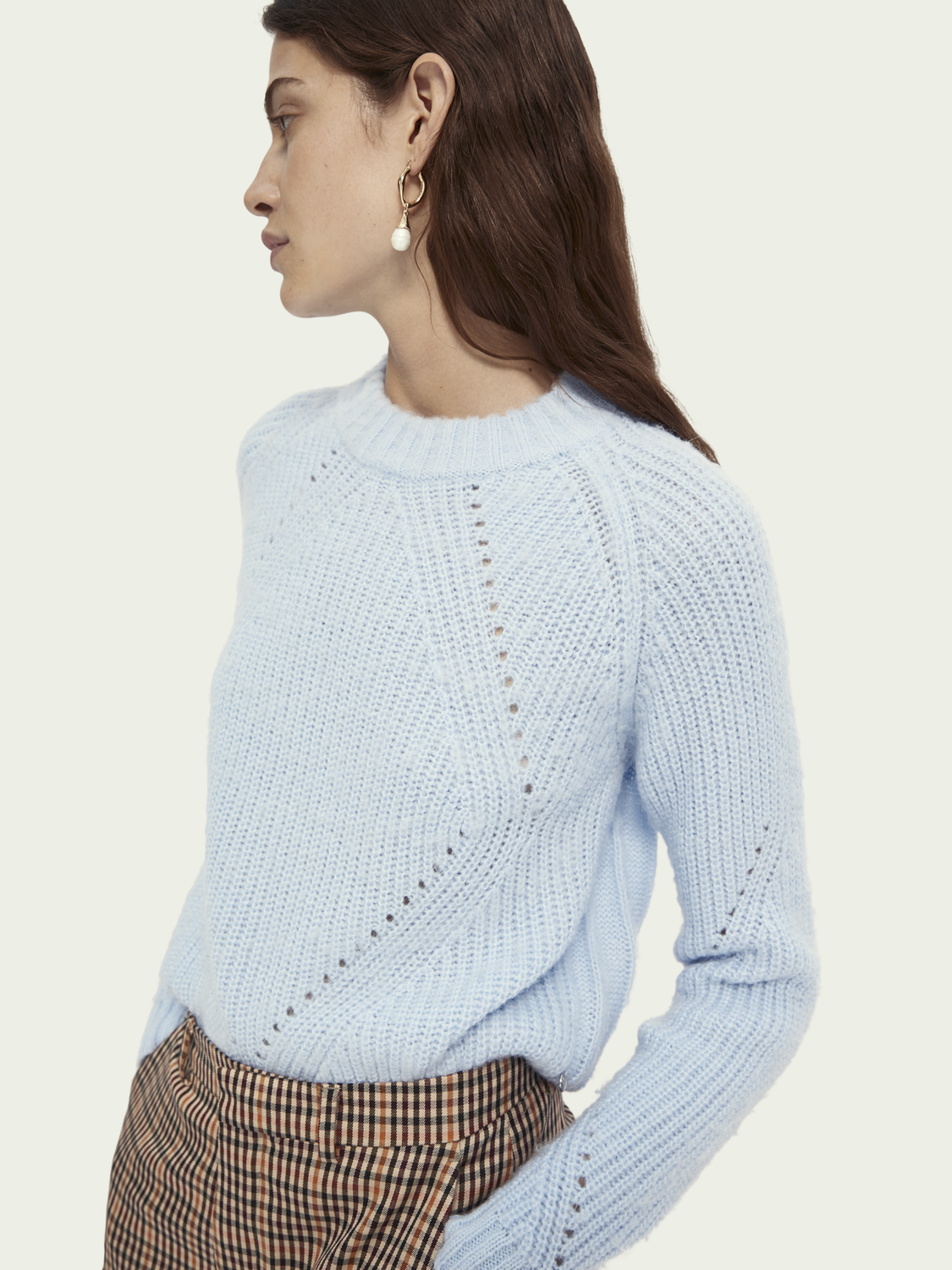 Women Cable knit wool-alpaca blend pullover