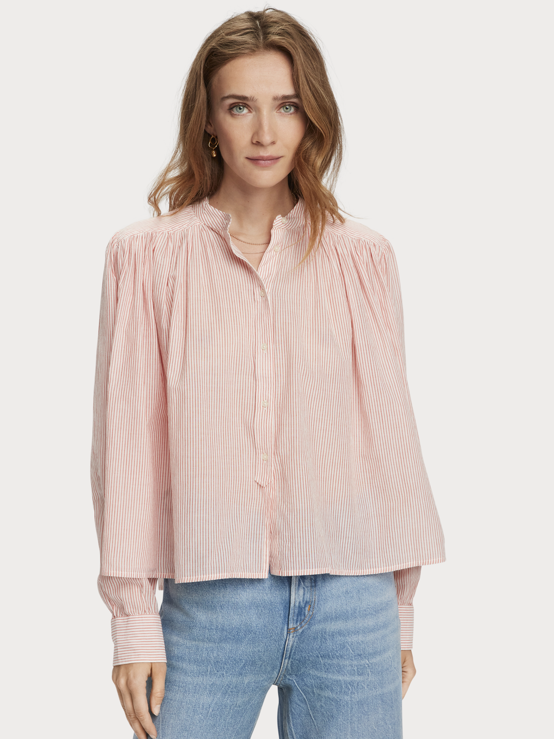 Women Sustainable loose-fit cotton shirt