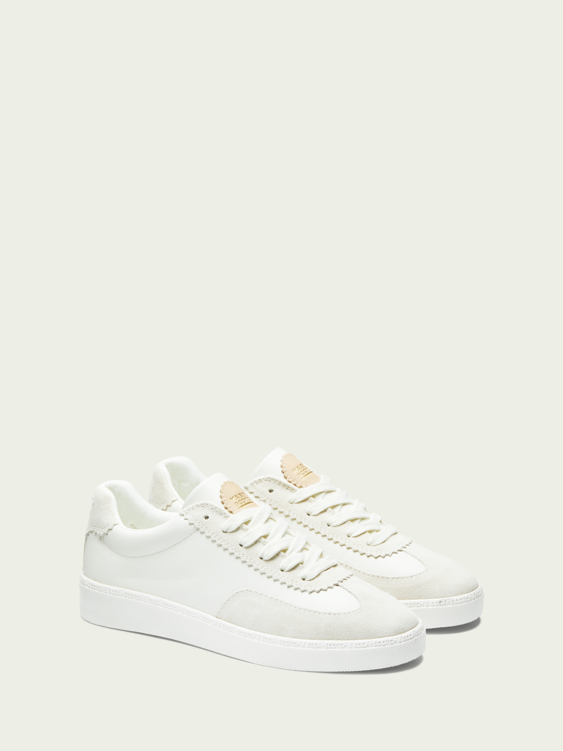 Women Laurite - classic leather lace-up sneakers