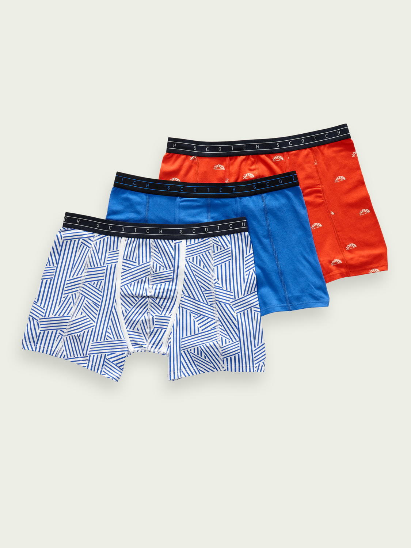Men 3-pack cotton-blend boxer shorts