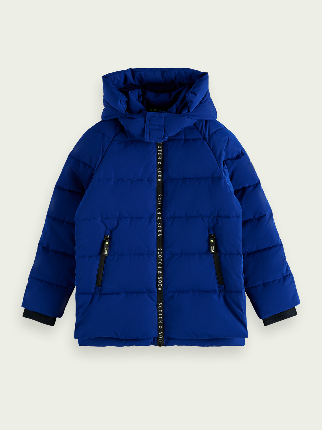 Kids Branded zip padded jacket