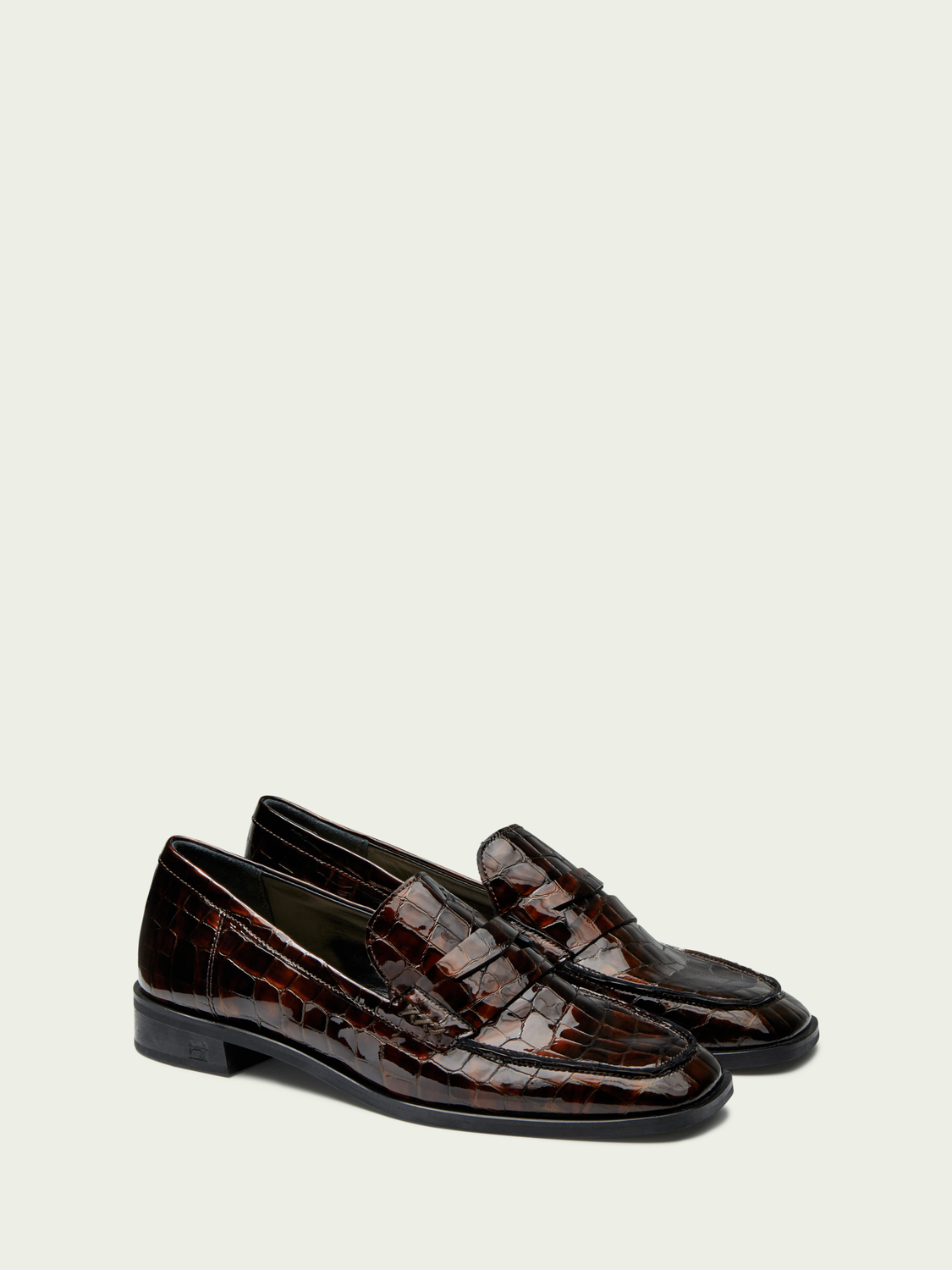 Women Blythe - leather croc-effect slip on loafers