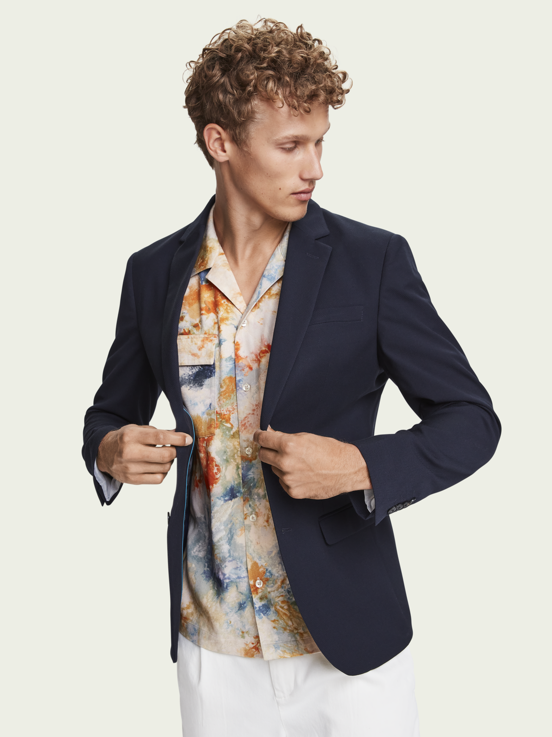 Men Classic single-breasted blazer