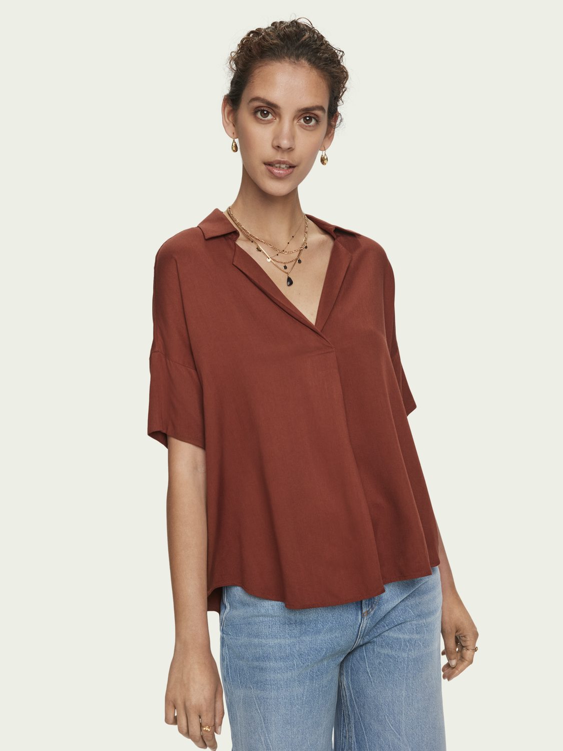 Women Relaxed fit short sleeve shirt
